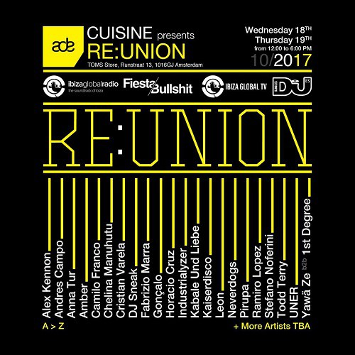 Kaiserdisco & Cristian Varela  - Live At Re.Union, TOMS Flagship Store (ADE 2017, Amsterdam) - 19-Oct-2017