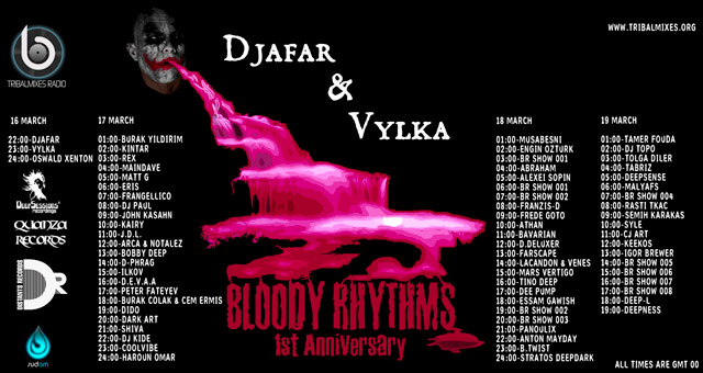 Bloody Rhythms :: 1 YEAR ANNIVERSARY (aired on March 16th, 2011) banner logo
